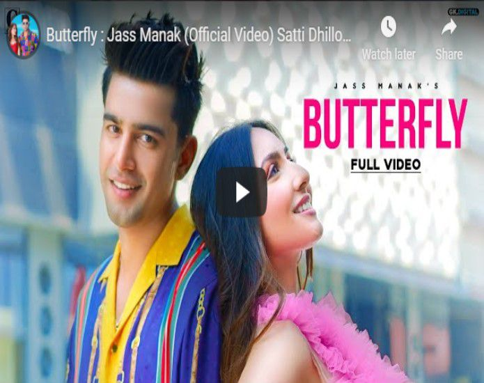 Butterfly Lyrics In Hindi- Jass Manak ,Satti Dhillon